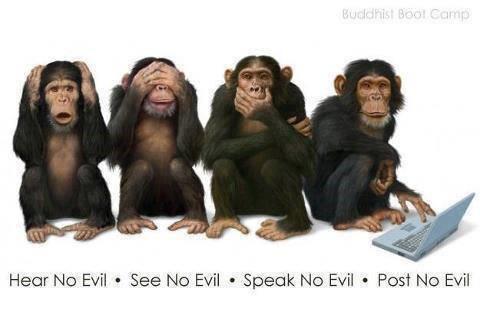 4 weise Affen