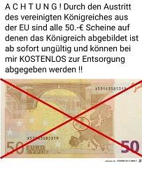 50-Euroschein ohne Großbritannien