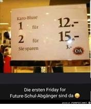 Friday for Future Rechenkunst