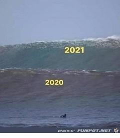 Corona-Wellen 2020, 2021