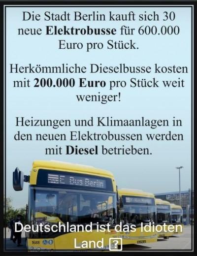Diesel - Elektrobusse