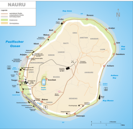 Karte von Nauru