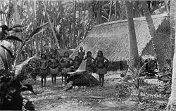 Einwohner von Nauru im Jahr 1896