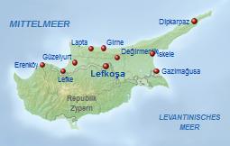 Zypern Karte