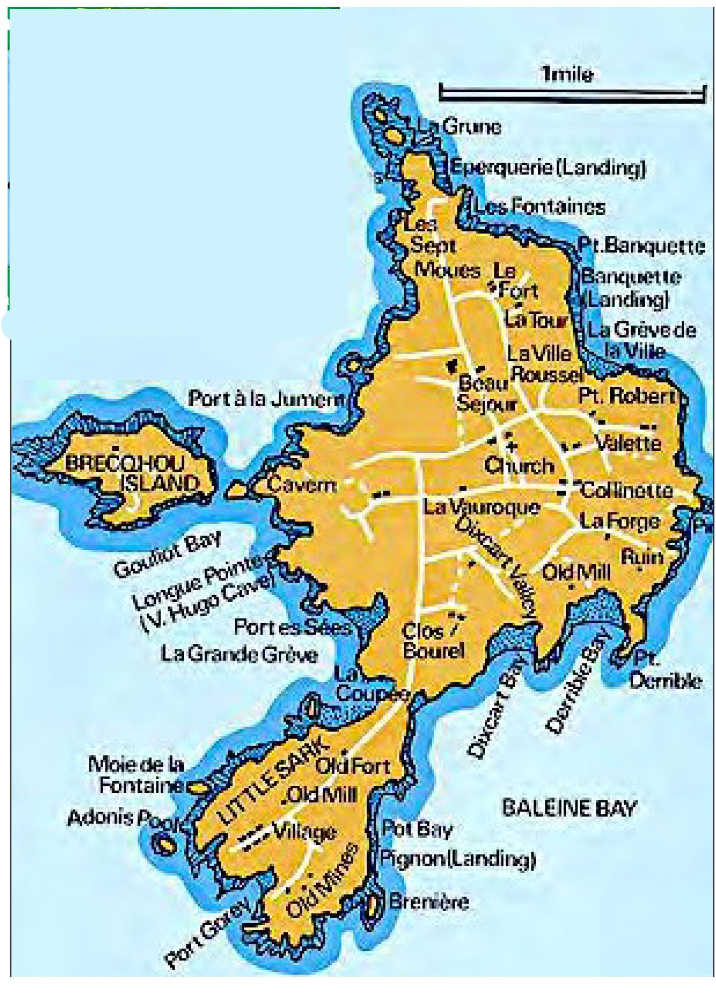 Karte von Sark