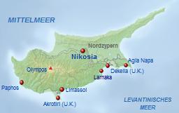 Republik Zypern Karte