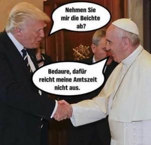 Trump und Papst
