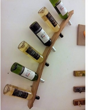 Weinflaschen-Wandregal