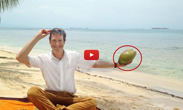 5-Minuten-Kokosnuss-Trick