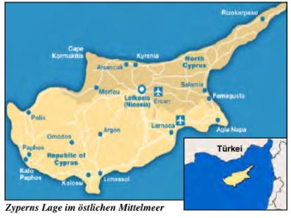 Zypern Landkarte